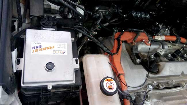 Transformación de un vehículo híbrido a GLP gas licuado del petróleo.